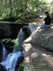 Merrill at the third falls